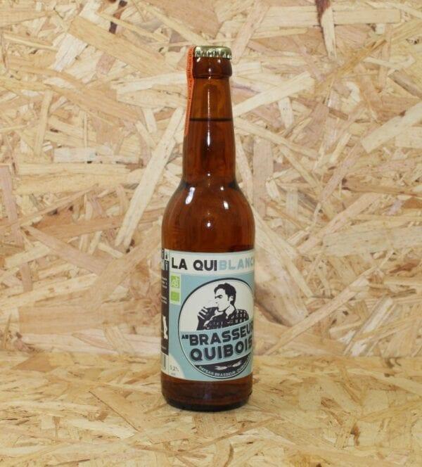 """cadeau entreprise coffret Bière Blanche Bio """"Quiblanche"""" 33cl - Au Brasseur Quibois"""