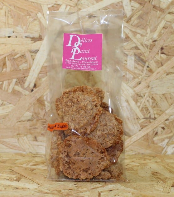 """cadeau entreprise coffret Biscuits """"Cracks"""" Amande 75g - Les Délices de St-Laurent (St-Laurent de Condel)"""