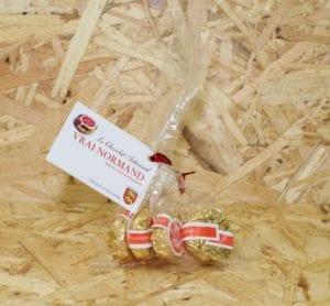 """cadeau entreprise coffret """"Le Vrai Normand"""" Calvados enrobé de Chocolat (4 bonbons) - Les Délices de St-Laurent"""